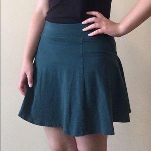 Dark Green Skater Skirt